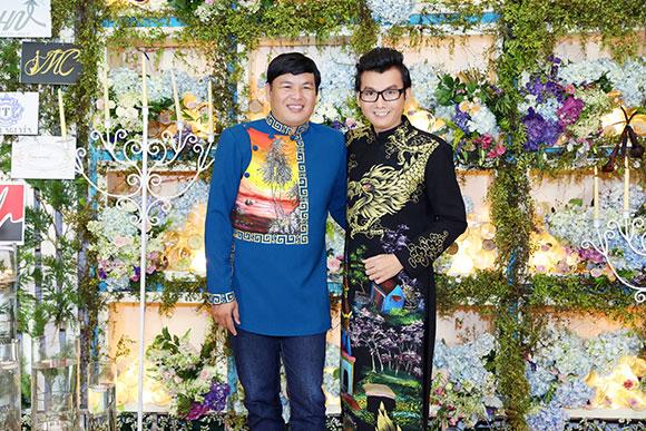 Á Vương Ký Quốc Đạt lịch lãm trong trang phục áo dài của Nhà thiết kế Đức Minh