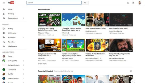 YouTube phiên bản web cải tiến lớn về giao diện