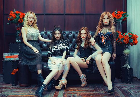 Lưu Thiên Hương 'tiếp súc' cho MV mới của S Girls