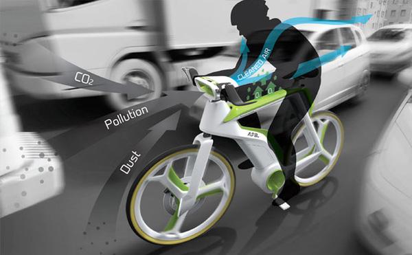 Xe đạp lọc không khí - Dự án bảo về môi trường tích cực