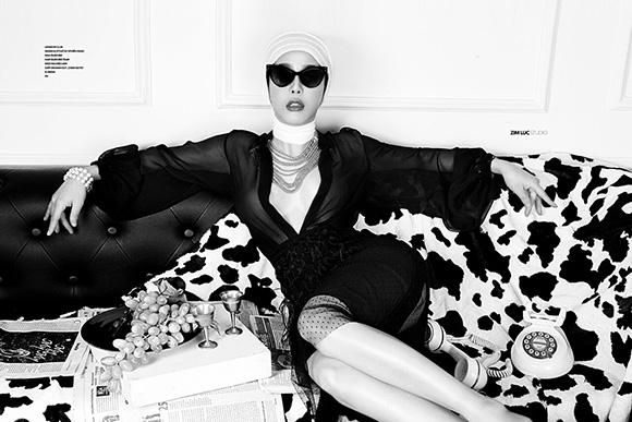 Á khôi Mai Diệu Linh gợi cảm không thua kém người mẫu trong bộ ảnh thời trang