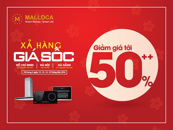 Malloca giảm giá siêu khủng hơn 200 mẫu sản phẩm