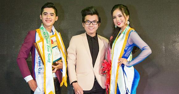 Mr Nụ Cười Tỏa Sáng Đặng Trung Trực ,Á vương Ký Quốc Đạt và Miss Nụ Cười Tỏa Sáng Trần Nguyễn Phương Anh