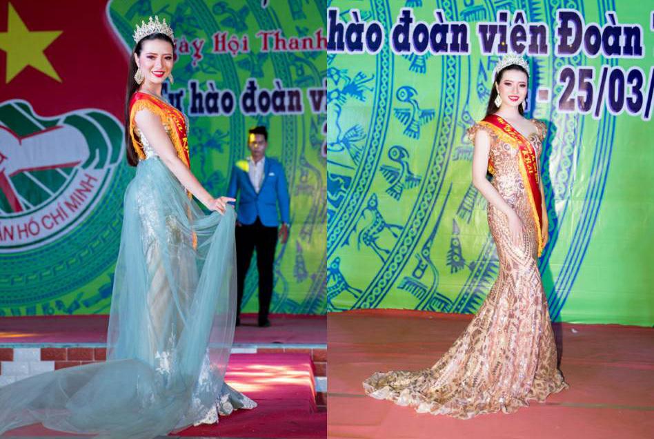 Hoa khôi Nguyễn Nhật Thảo vừa diễn thời trang vừa làm giám khảo trong 1 sự kiện