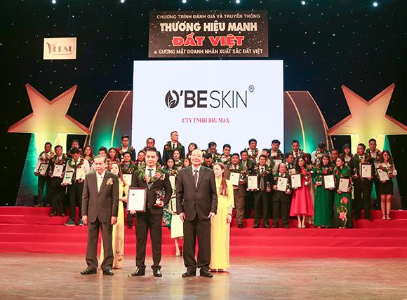 Thương hiệu mỹ phẩm O'BE SKIN xuất sắc lọt Top 10 Thương hiệu mạnh Đất Việt 2018
