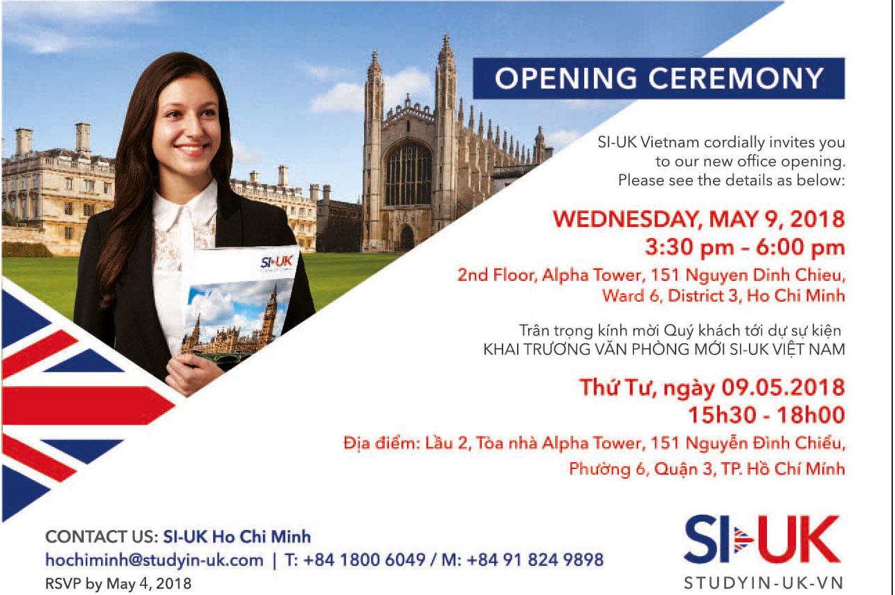 Tổ chức Du học ANH SI – UK khai trương văn phòng mới tại Việt Nam