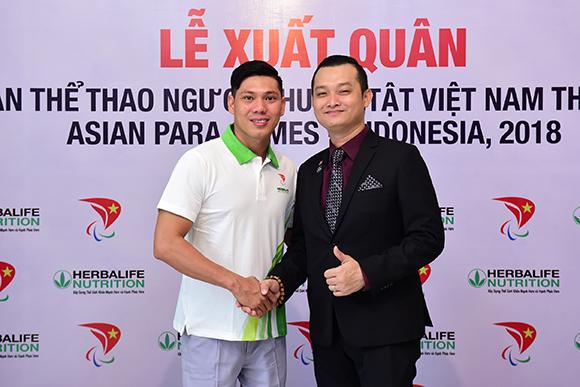 Herbalife và Hiệp hội Paralympic Việt Nam tài trợ cho 54 vận động viên Việt Nam tham dự Asian Para Games 2018 Tại Indonesia