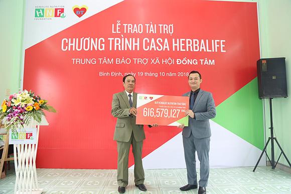 Quỹ Herbalife Nutrition trao tài trợ năm thứ 6 cho Chương trình Casa Herbalife Đồng Tâm (Bình Định)