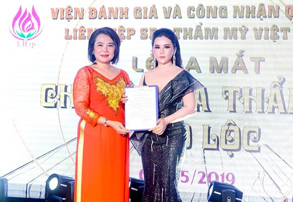 Hoa hậu Jessica Thảo Nguyên Hoàng vinh dự khi đảm nhận vai trò chủ tịch chi hội Spa Thẩm Mỹ Bảo Lộc