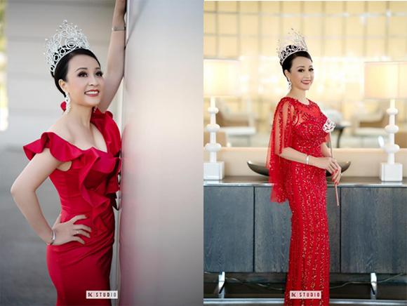 Vẻ đẹp tươi sáng sau đăng quang của Hoa hậu Phu nhân người Việt Quốc tế 2018