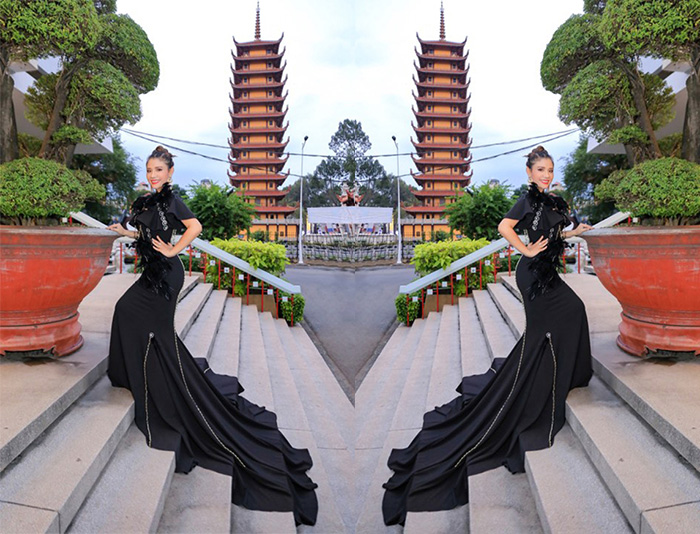 Á hậu Phương Trần Cherry  quyền lực trong sắc màu đen huyền thoại