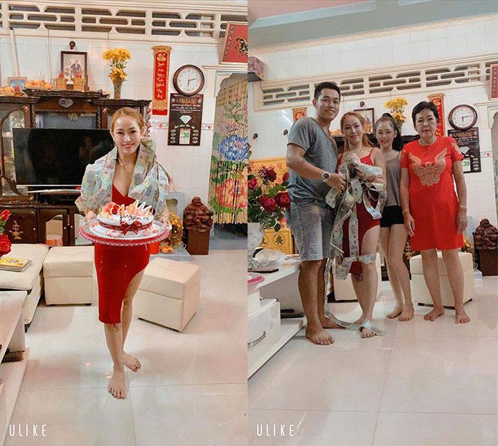 Hoa hậu Thanh Thúy được con trai bất ngờ tặng chiếc bánh sinh nhật đặc biệt khi về quê Sóc Trăng