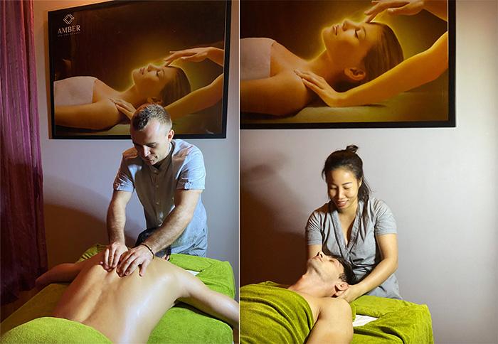 Massage trị liệu giúp lưu thông tuần hoàn khí huyết, nâng cao sức khỏe tại Amber Spa & Beauty