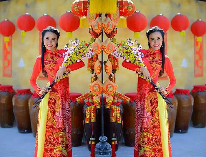 Ngắm nét đẹp dịu dàng đậm chất thuần Việt của Á hoàng Vi Trần