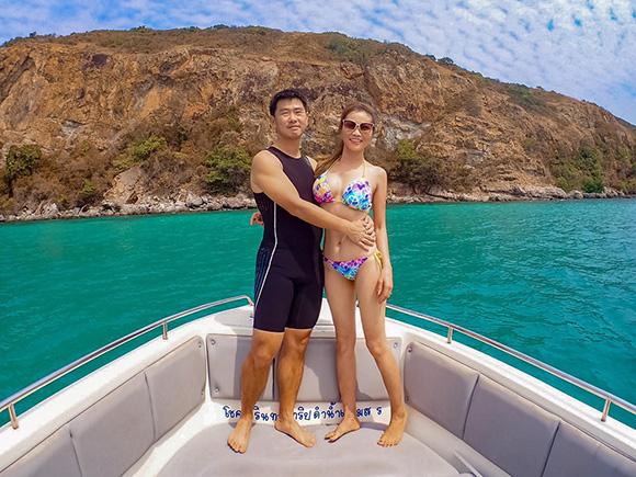 Xuân Nguyễn đến Pataya cùng ông xã đón sinh nhật trên du thuyền sang trọng