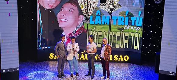 """Nhạc sĩ Thái Hùng đề nghị viết nhạc tặng riêng ca sĩ Lâm Trí Tú ngay trên sân khấu khi đến xem live show """"Ước mơ của tôi"""""""