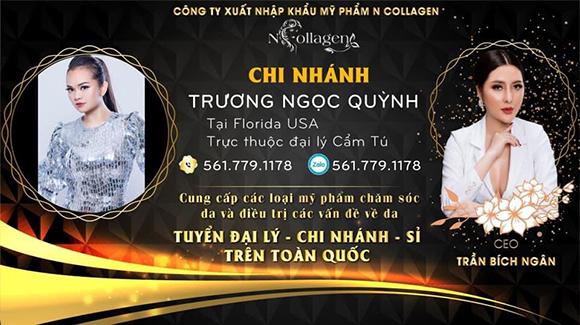 Ca sĩ, hoa hậu Trương Ngọc Quỳnh trở thành chi nhánh độc quyền mỹ phẩm N Collagen tại Florida- Hoa Kỳ