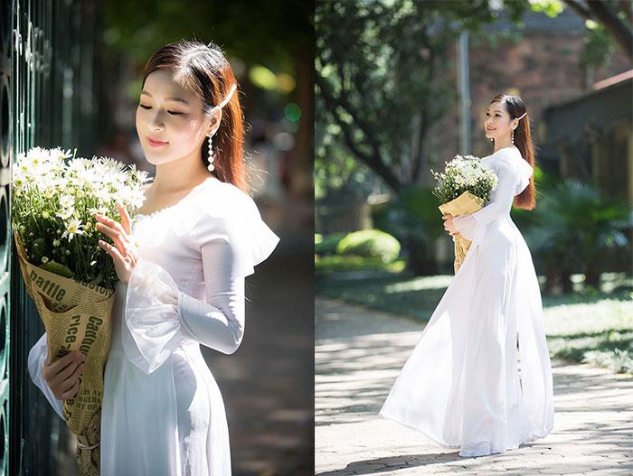 Thả dáng đầy quyến rũ, Hoàng Ái My thu hút ánh nhìn trên đường phố Hà Thành