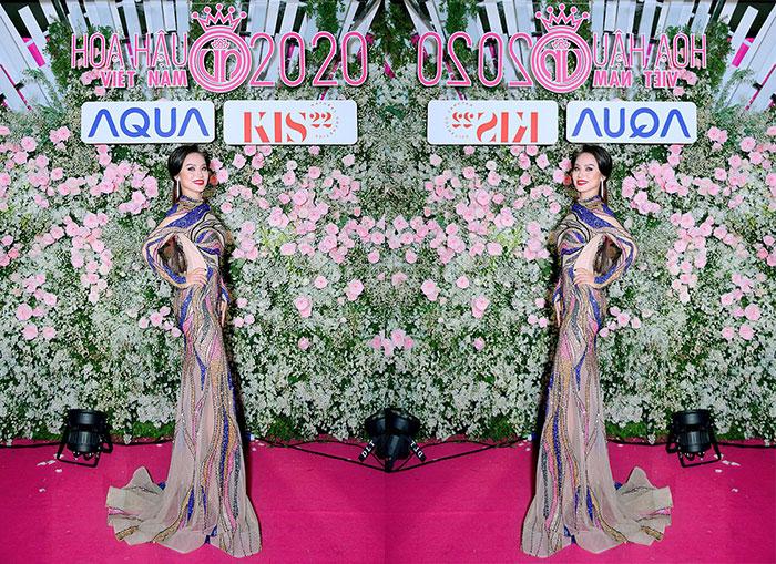 Nhan sắc kiều diễm của hoa hậu Nguyễn Xuân Phương trên thảm đỏ Hoa hậu Việt Nam 2020